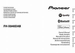 Notice Pioneer Fh-x840dab
