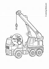 Crane Drawing Tower Coloring Draw Truck Pages Printable Getdrawings sketch template