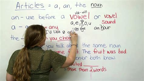 A, An, The  Articles In English Youtube