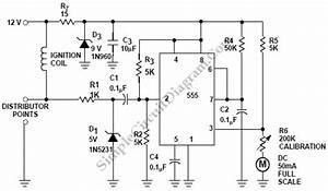 Car Tachometer With 555 Ic