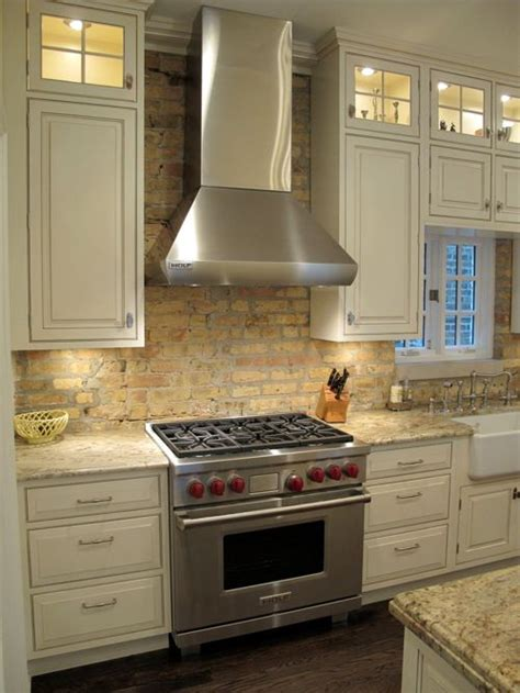 brick kitchen backsplash antique brick backsplash home design ideas pictures