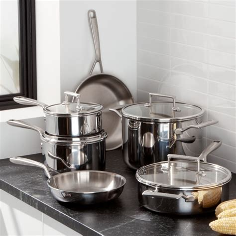 kitchenaid  piece copper core cookware set reviews crate  barrel
