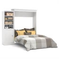 bestar versatile 92 wall bed with door storage unit in white 40882 17