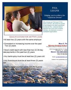 FHA Loan Flyer