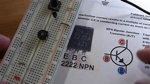 Electronics Schematic To Breadboard 7 Npn 2n2222 Bipolar