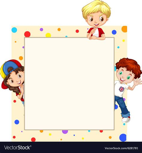 border design  children royalty  vector image