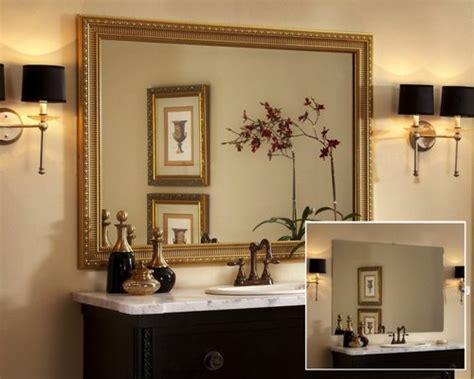 framed bathroom mirror home design ideas pictures