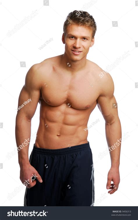 male body handsome muscular beautiful stock photo