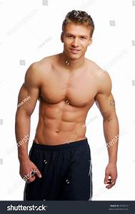 Young Handsome Muscular Man Beautiful Body Stock Photo 9456313