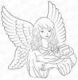 Engel sketch template