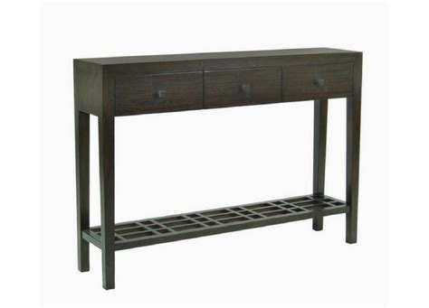 3 Chairs Arbor Mi by Metro Console Table 3 Drawer With Lattice Shelf Three