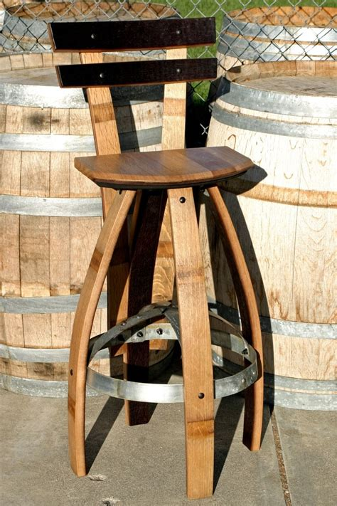 wine barrel stool plans wine barrel bar plans