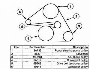 I Need A Belt Routing Diagram For A 2001 Mercury Sable 24v