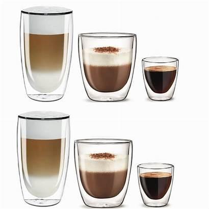 Espresso Latte Cappuccino Szklanki Zestaw Aqualogis Kubek
