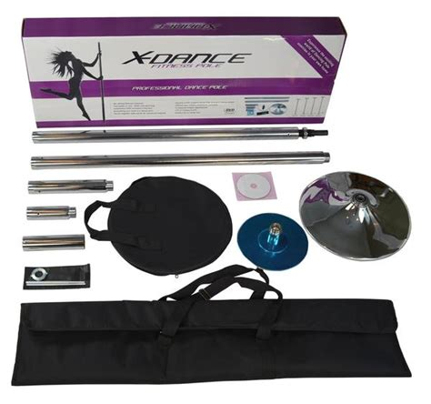 pole dance exercise chrome fitness spinning 45mm portable case dancing carrying