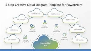 5 Step Creative Cloud Diagram Template