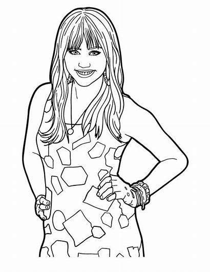 Hannah Coloring Montana Miley Stewart Posing Leah