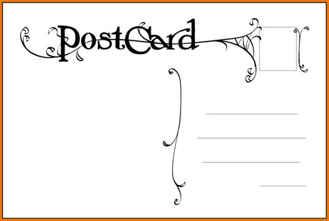 Template Postcard Template For Word Free Postcard Templates Madinbelgrade