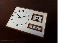 Antiques Atlas Vintage Wall Clock And Calendar 1960s