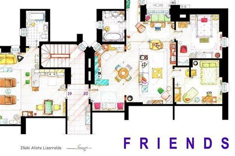 Floor Plans Of Homes From Tv Shows by 13 Incredibly Detailed Floor Plans Of The Most Tv