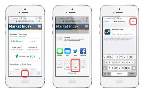 how to add on iphone add to mobile market index