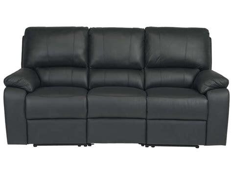 canap 233 fixe relaxation manuel 3 places en cuir coloris noir vente de canap 233 droit