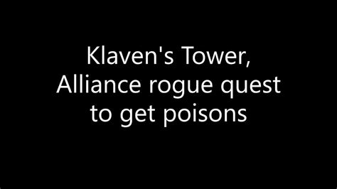 quest wow classic klaven tower rogue alliance