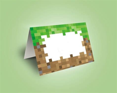 minecraft food tent cards food labels minecraft party