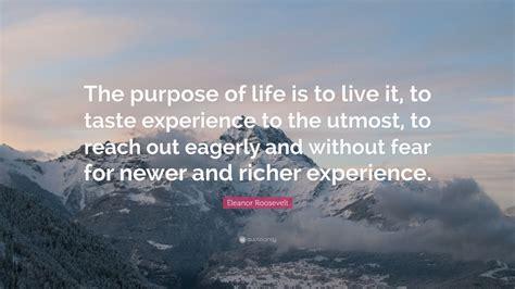 eleanor roosevelt quote  purpose  life