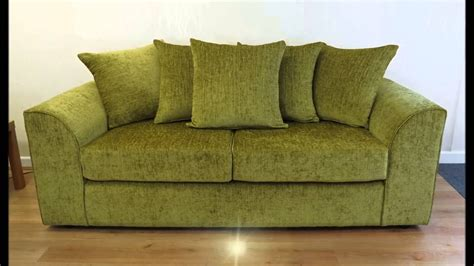 green chenille sofas