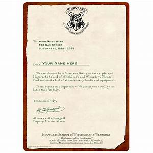 personalized hogwarts acceptance letter chromaluxe panel With letter to hogwarts gift