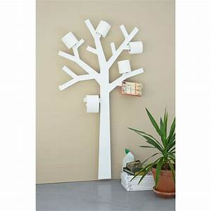 Papier Peint Pour Wc : arbre papier wc support papier toilette design presse ~ Nature-et-papiers.com Idées de Décoration