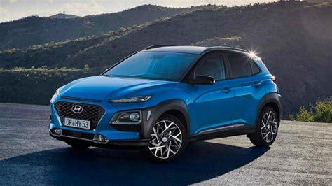 hyundai kona hybrid hyundai kona hybrid version unveiled for european markets