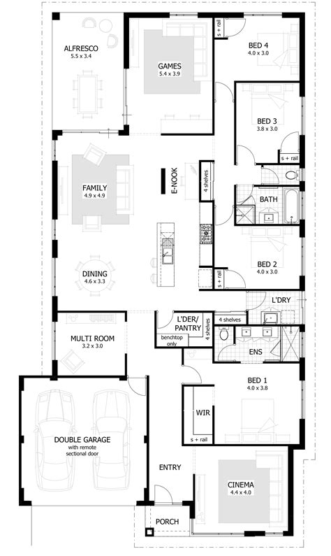 4 bedroom house plans 1 single 4 bedroom house plans ahscgs com