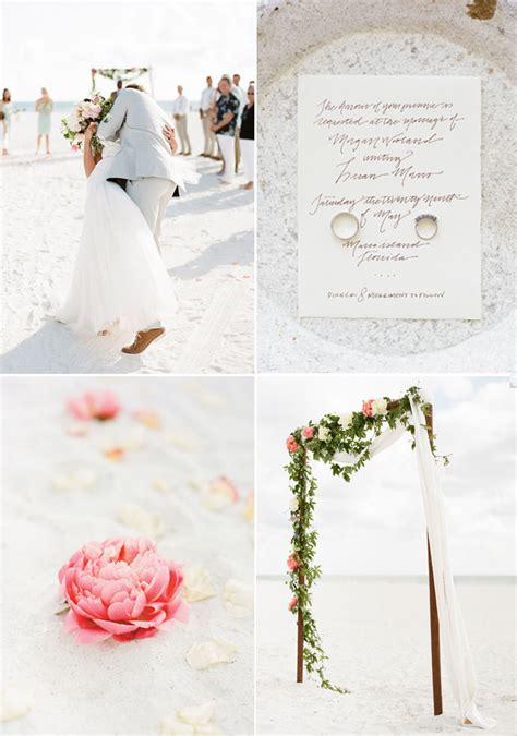 Romantic Boho Beach Themed Wedding Inspiration For Your