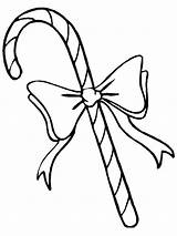 Coloring Candy Pages Cane Bow Printable sketch template