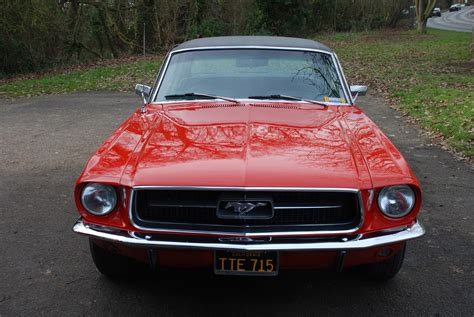 "Sold ""cali"" 1967 Ford Mustang Coupe Red Auto V8 Essex"