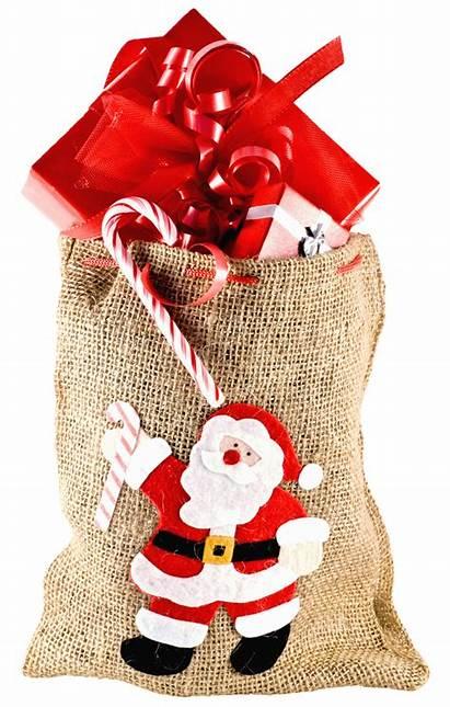 Transparent Christmas Gift Bag Sack Santa Present