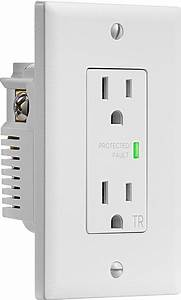 Insignia U2122 2-outlet In-wall Surge Protector White Ns-hw120s18