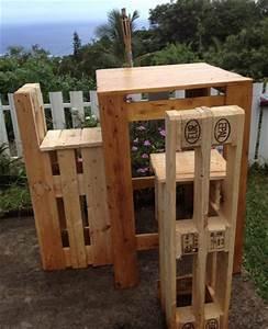 Bartisch Mit Stühlen : 42 amazing uses for old pallets bartisch mit st hlen bartisch und europalette ~ Indierocktalk.com Haus und Dekorationen