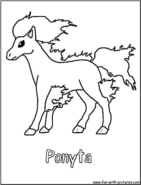 Kleurplaat Vuur Ponyta by Ponyta Coloring Pages Getcoloringpages