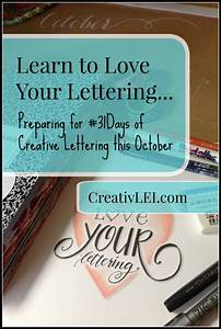 Do you want to learn hand lettering creativlei for Learn creative lettering