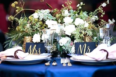 Royal Blue Gold And White Centerpieces Breathtaking