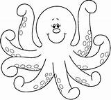 Coloring Octopus Printable Pages sketch template