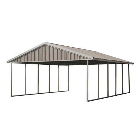 pws premium canopy  ft   ft ash grey  polar white  steel carport structure