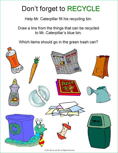 recycling lesson plans for preschool recycling worksheet for kindergarten worksheets for all 584