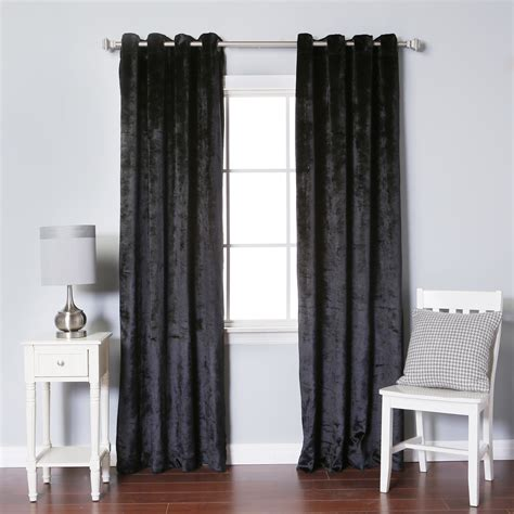 Best Curtain Panels by Best Home Fashion Inc Velvet Grommet Top Curtain Panels