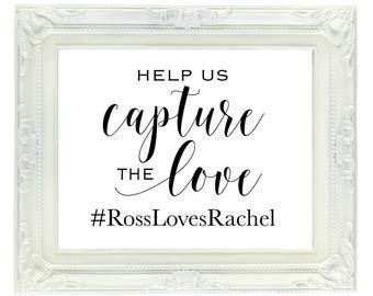 hashtag wedding sign etsy