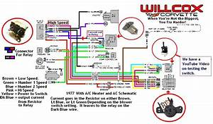 1977 Corvette Heater And Ac Schematic