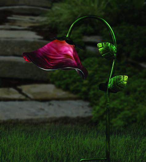 Regal Art And Gift Solar Bell Flower Stake  Fresh Garden
